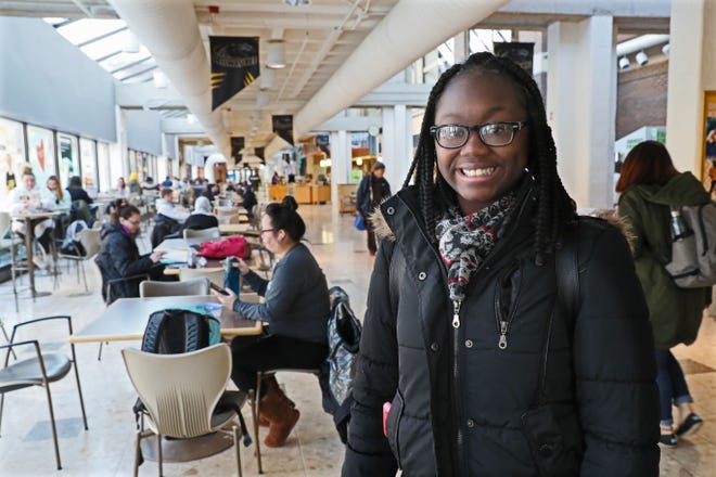 Sh'Tejah Ward works in the student union on the University of Wisconsin-Milwaukee campus. She graduated from high school in 2019, after getting straight A's for her final three semesters. She enrolled at the University of Wisconsin-Milwaukee but didn't get enough financial aid to cover everything.