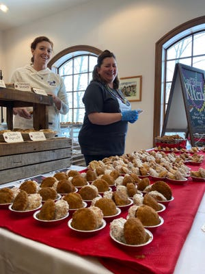 Paczki from Elsie Mae's Canning & Pies were among the options at the Paczki Party Feb 9 at the Polish Center.