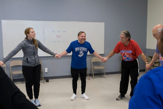 Louisiana Tech Parkinson's Research Center hosts the Dance with Parkinson's class at the Lambright Sports and Wellness Center in Ruston, La. on Feb. 12. The class focuses on simple dance moves to help maintain mobility in those affected by Parkinson's Disease. It is offered in conjunction with the Rock Steady Boxing.