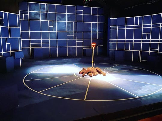 "What happened to Wellington? Find out at the Cloverdale Playhouse as they present ""The Curious Incident of the Dog in the Night-Time."""