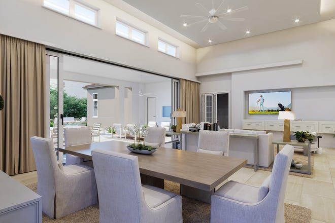 Priced at $2,219,500 fully furnished, London Bay Homes' 3,615 square feet under air Martinique model in Lucarno is scheduled to be completed by the end of February