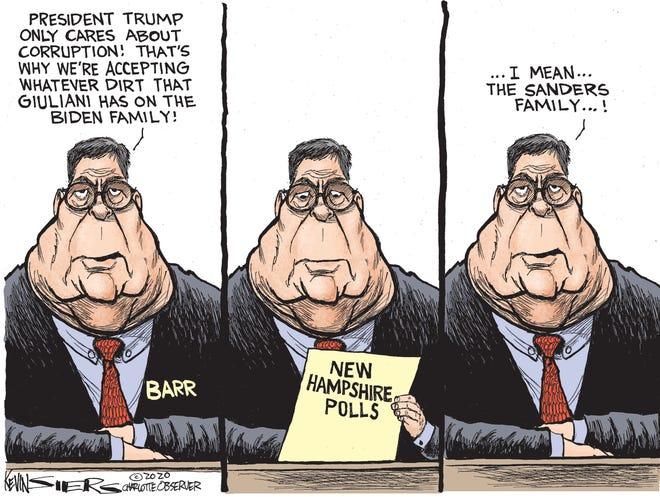 Barr taking Giuliani's information.
