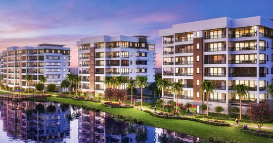 The first three buildings at Moorings Park Grande Lake are currently about 95 percent completed.
