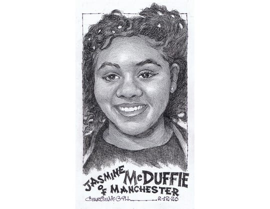 Jasmine McDuffie, Manchester basketball