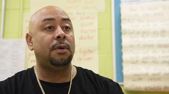"""Raymond Santana, one of the """"Central Park Five,"""" was coerced into giving false confessions by prosecutors. Santana visits School 6 in Passaic."""