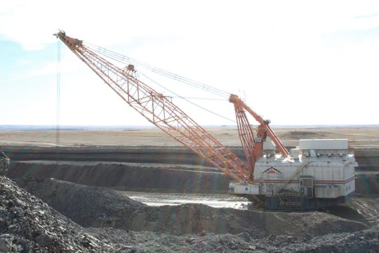A dragline waits to be operated at Navajo Mine in Fruitland on Feb. 6, 2020.