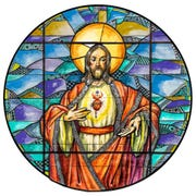 An artist's rendering of a new stained-glass window to be installed at Cathedral of the Sacred Heart.