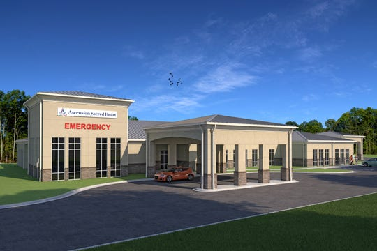 A rendering of Ascension Sacred Heart's emergency room on Nine Mile Road.