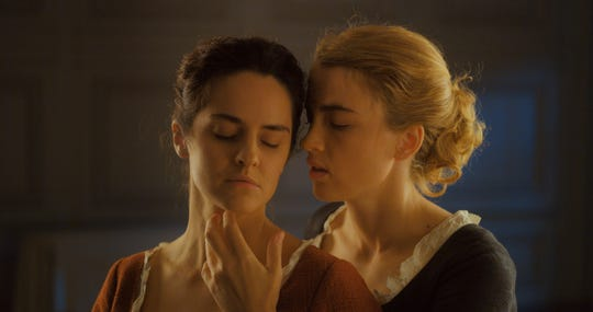 "Noemie Merlant and Adele Haenel fall in love in ""Portrait of a Lady on Fire."""