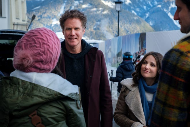 Will Ferrell and Julia Louis-Dreyfus in the film 'Downhill,' a remake of 'Force Majeure.'