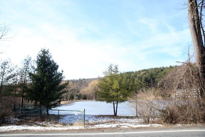 The Village of New Paltz reservoir on February 12, 2020.