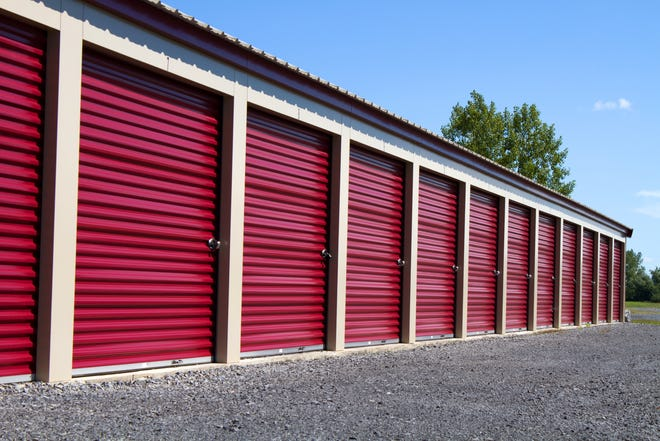 A stock photo of storage units.