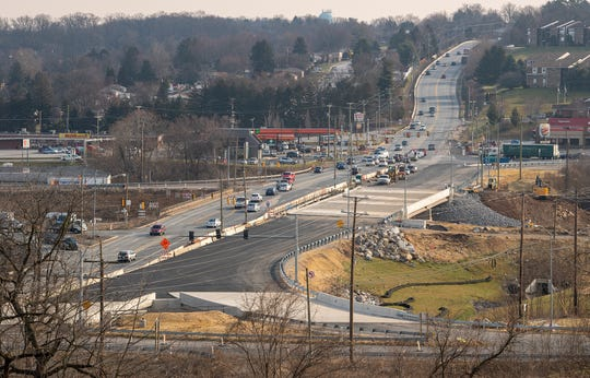 This is looking east across the I-83 Mount Rose Avenue interchange, still under construction, on Feb. 12, 2020.