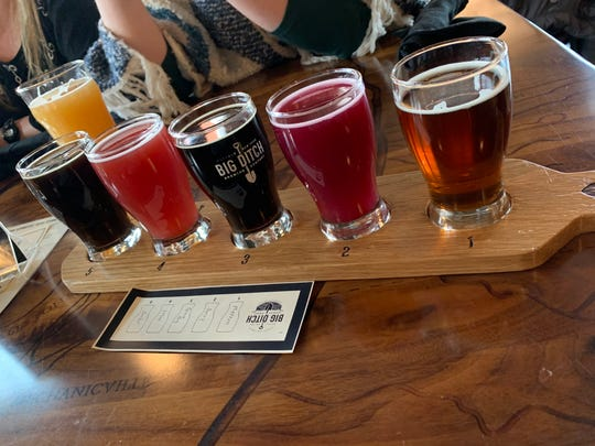 A colorful flight at Big Ditch Brewing in Buffalo.