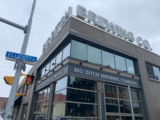 The exterior of Big Ditch Brewing in downtown Buffalo.