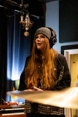 Local musician Miranda Vettrus works on a track at Wavelength Studio in Salem on Feb. 5, 2020.