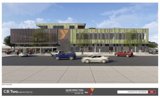 A rendering of the under construction YMCA project in downtown Salem.