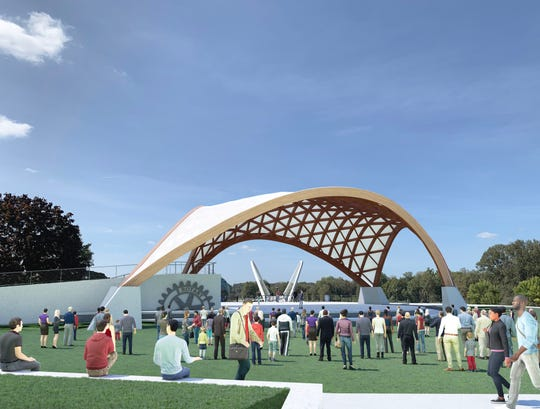Rendering of the planned Gerry Frank Salem Rotary Amphitheater at Riverfront Park.