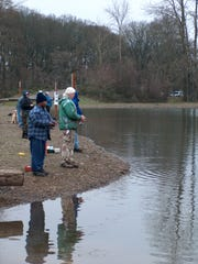 Trout stocking is quite a draw at Wirth Lake inside the Salem city limits, especially when it's Free Fishing Days.
