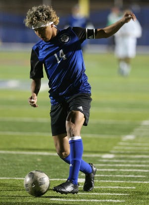 San Angelo Lake View High School's Daniel Ramos competes in a game earlier in the 2020 season.