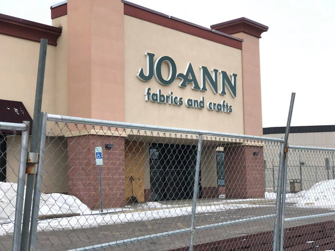 Joann Fabrics is under construction after it was damaged by a trio of tornadoes in September