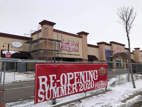 Pizza Ranch is undergoing renovations after a tornado.