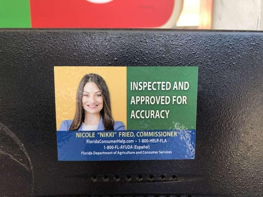 Florida Agriculture Commissioner Nikki Fried, a Democrat, put her face on gas pumps, annoying Republicans.