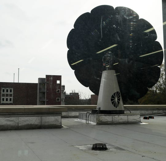The Smart Flower, a solar energy panel, on the roof Florida State University new Earth, Ocean, Atmospheric Science Building on Wednesday, Feb. 12, 2020.