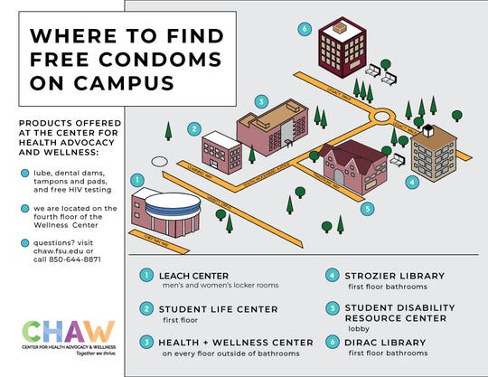 This map is on the university's Center for Health Advocacy & Wellness website