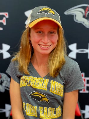 South Fork senior distance runner Hannah Martin signed with Southern Miss on Monday.