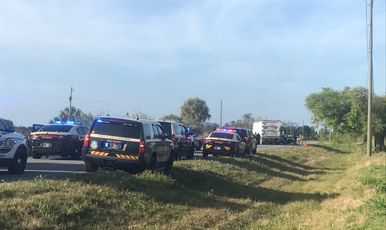 Johnston Road, known as 43rd Avenue in Indian River County, closed about 3 p.m. in both directions north of Indrio Road near the Indian River County line, the sheriff's official stated.