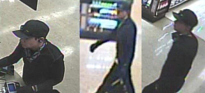 Simi Valley police are asking the public for help identifying the suspect in a robbery attempt at a supermarket pharmacy on Feb. 5.