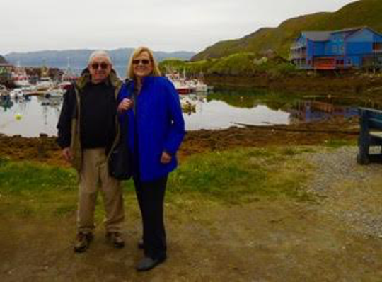 Glenn Eisen and Barbara McNear, of Hastings-on-Hudson, pictured in Norway in 2018. The couple decided to take a cruise on the Westerdam on the South China sea, however their ship has been unable to dock anywhere after docking in Hong Kong on Feb. 1 due to concerns over the coronavirus.