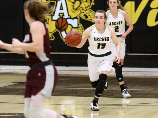 Archer City's Aspyn Huseman was named to the Red River 22 squad after a breakout sophomore season.