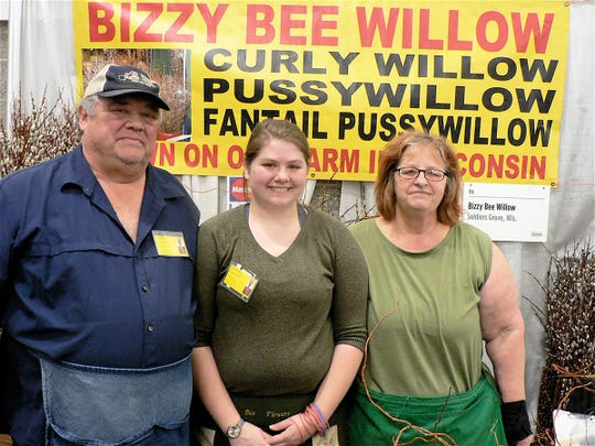 Don, Danielle and Vera Stussy came close to selling their entire supply of willows.