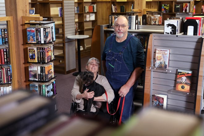 David and Tina Slack have opened Slack's Book Barn on Wayne Avenue in Zanesville. The store sells used books in a variety of genres, and employs their dog Jack as an occasional greeter.