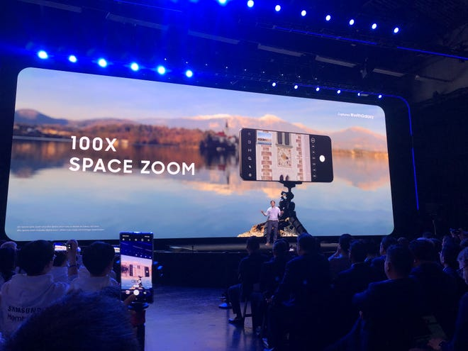 "Samsung marketing hype for ""100x"" zoom"