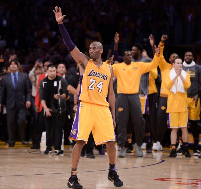 Kobe Bryant during his final NBA game in 2016.