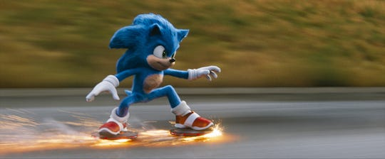 "Sonic shows fast moves in ""Sonic the Hedgehog."""