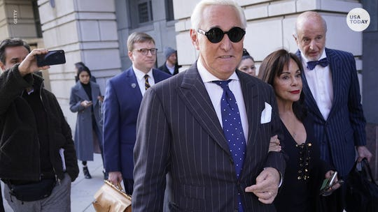 Roger Stone faced a trial for lying to Congress and obstructing an investigation into Russia to protect Trump.