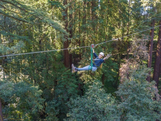 Feel a need for speed? Mount Hermon Adventures features six different zipline rides.