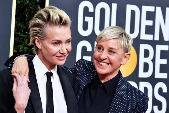 Portia de Rossi and Ellen DeGeneres donated protective face shields to Navajo Nation health care centers.