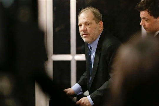 Harvey Weinstein leaves his trial in New York.