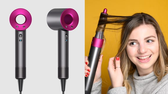 The famous Dyson hair dryer and curling wand are on sale for the first time ever