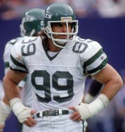 Mark Gastineau led the NFL twice in sacks during his 10-year career.