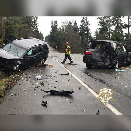 One person was injured in a head-on collision at Clear Creek Road on Thursday morning.