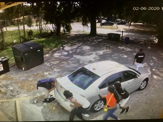 Video image from Feb. 6 shootout in Titusville. No one was injured.