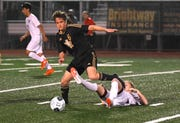 Action from the Merritt Island vs. Mulberry Region 3-4A Boys Soccer at Mustang Stadium.
