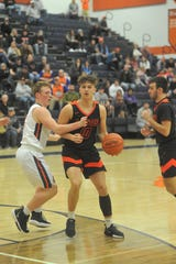 Lucas' Logan Niswander leads his team into district tournament action this week.