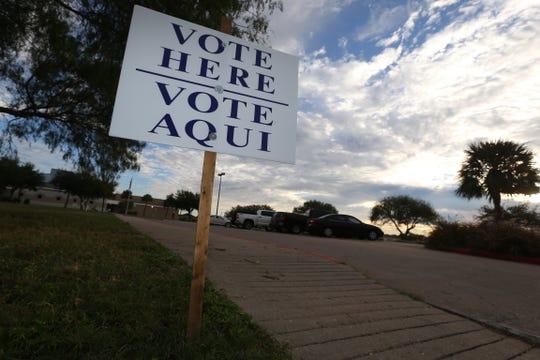 Voting in Corpus Christi.